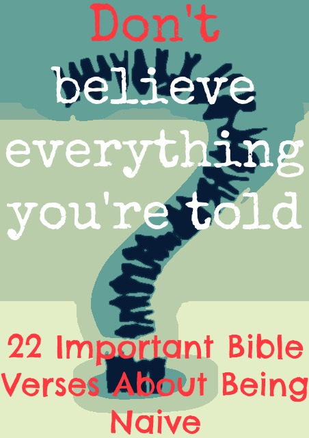 22 Important Bible Verses About Being Naive
