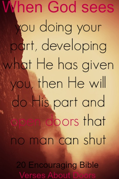 20 Encouraging Bible Verses About Doors