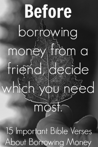 Bible Quotes Entrancing Important Bible Verses About Borrowing Money
